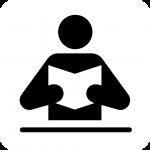 Person reading.