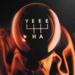 "Stick shift with letters ""YEE HA"" on it."